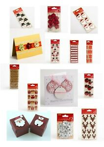 Handcrafted Christmas craft card making decorations Handmade embellishments