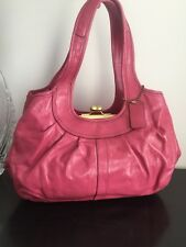 Grand Sac COACH en cuir rose bonbon