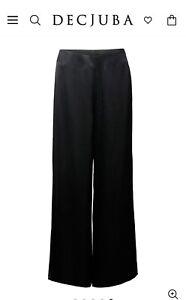 DECJUBA Black Satin Wide Leg Pant Rrp $99.95