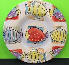 Antica Fornace Serving Platter Colorful Fish Design Collectable