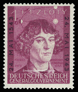 EBS Generalgouvernement 1943 Copernicus 400th Anniversary Michel 104 MNH**