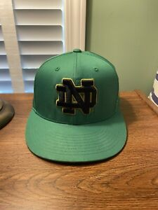 Notre Dame Under Armour Kelly Green On-Field Fitted Hat