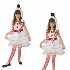 Snowgirl Girls Kids Snow Man Christmas Xmas Fancy Dress Costume Outfit Age 4-12