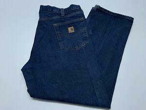 Mens Carhartt Relaxed Fit Blue Jeans Denim B460 DVB Size 40x30 Perfect