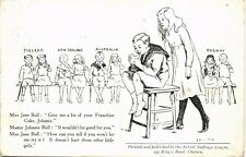 Suffragette Cartoon by Artists, Suffrage League. Franchise Cake.