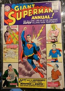 DC Comics - Giant Superman Annual #2 - SUPER VILLIANS 1960 EX/MT