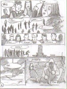 Simon Davis   Thistlebone  2000AD pencil prelim     Original comic Art