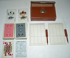 Vintage GRIFFON English Leather Contract Bridge Playing Card Set