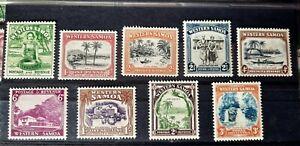 WESTERN SAMOA , KG V 1935 SET OF 9. SG 180-188 MLH