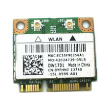 Dell YFHN7 DW1701 802.11bgn Wlan Wireless Mini PCI-E Card BCM94313HMGB+BLUETOOTH