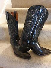 Vintage Marlboro Classic Mens Brown Leather Cowboy Boots Size 8 EU 42