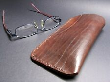 Leather Eye Glasses case,  Hand stitched,  Handmade, Eye Glasses sleeve case