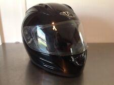Vega Altura Full Face Motorcycle Helmet w/Visor Size XL Black