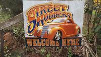 Hot Rod Street Rod  Antique Car Automobile Tin Metal shop Garage Wall Decor NEW