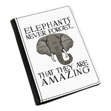 Elephants Never Forget That They Are Amazing Passport Holder Cover Case Wallet