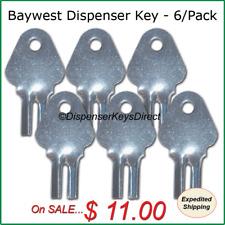 Baywest #1200 Dispenser Key for Paper Towel, Toilet Tissue Dispensers - (6/pk.)