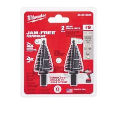 NEW MILWAUKEE 48-89-9239 (2 PACK) #9 BLACK OXIDE STEP DRILL BITS HEAVY DUTY