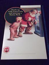 Coca Cola Coke Christmas Display Sign Cardboard Sundblom Santa Pack Always 1995