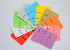 2000 Mix Colors Merchandise Price Jewelry Garment Store Paper Tags 1 78x1 14
