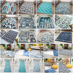 Modern Teal Rug   Cheap Rugs For Living Room   Soft Non Shedding Bedroom Carpet