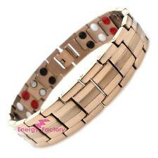 100% Rose Gold TITANIUM Magnetic Bio Energy 4in1 Bracelet Arthritis Pain Relief