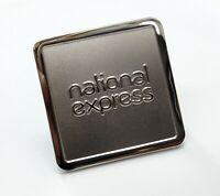 Genuine Obsolete National Express Coach Company Logo Metal Uniform Badge GIM84