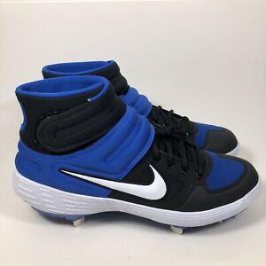 Nike Alpha Huarache Elite 2 Mid Baseball Cleats Men's Size 11 AJ6874-400 Blue