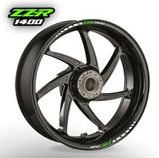 ZZR 1400 wheel rim stickers decals - choice of 20 colours - zzr1400 abs