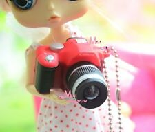 1/6 Barbie Blythe Dollhouse Miniature RED Camera Quality