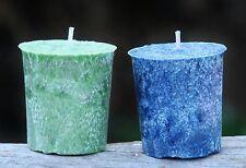 160hr 8 pack EUCALYPTUS BLUE GUM & LIME Votive Candles ELLIMINATES BAD SMELLS