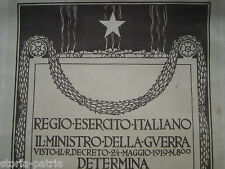 MILITARIA_MINISTERO DELLA GUERRA_DIAZ_ARALDICA_GUIDO MARUSSIG_DECORATIVA STAMPA