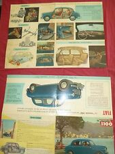 N°4259 / FIAT : dépliant la nouvelle 1100 berline   1953