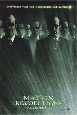 THE MATRIX REVOLUTIONS ORIGINAL MOVIE POSTER ~ MULTIPLE AGENT SMITH 27x40 Hugo