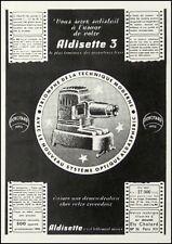 PUBLICITE  C   PHOTO  PROJECTEUR    AD  1957