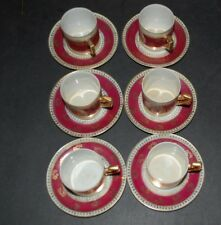 Vintage RGK Tcehchoslovaquie demitasse cup and saucer Lot of Six (6)