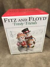 """New ListingFitz And Floyd Frosty Friends Musical Christmas 2005 """" We Wish You A Merry Chris"""