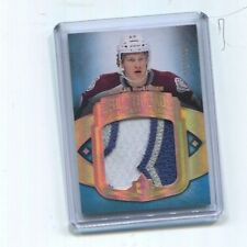 2014-15  ULTIMATE NATHAN MACKINNON DEBUT THREADS ROOKIE PATCH 3-COLOR NM-MT