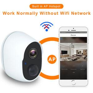 1080P Wireless WiFi Outdoor Camera Security CCTV Battery Waterproof IR Cam UK