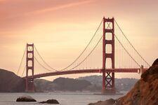 GOLDEN GATE BRIDGE LANDSCAPE POSTER STYLE C 24x36 HI RES