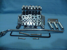 CHROME FLOYD ROSE TREMOLO DOUBLE LOCKING BRIDGE COMPLETE SYSTEM USA SHIPPING !!