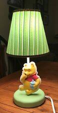Winnie The Pooh Nursery Lamp Pooh with honey pot, EUC