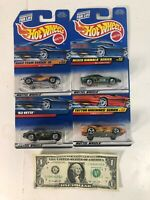 Lot of 4 Hot Wheels Die Cast Cars - Corvette Collector #728 #174 #734 #688
