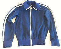 DDR Sporett Trainingsjacke Jacke Kinder 140 blau VEB Strickwaren Oberlungwitz