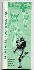 VINTAGE 1972 MARSHALL THUNDERING HERD FOOTBALL MEDIA GUIDE