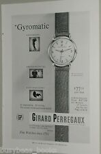 1954 Girard Perregaux Watch ad, Gyromatic wristwatch