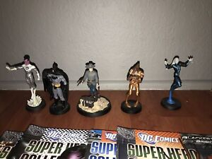 EAGLEMOSS DC Super Hero LOT OF 4 FIGURE WITH MAGAZINE **read description**