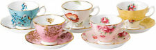 100 YEARS OF ROYAL ALBERT 5 x CUPS & SAUCERS 1950-1990 - BRAND NEW IN BOX