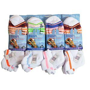 6X Pairs Men Ladies Fresh Feel Sport Max Cushioned Trainer Liner Socks 4-7 6-11