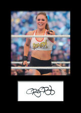 RONDA ROUSEY #2 (WWE) Signed (Reprint) Photo A5 Mounted Print - FREE DELIVERY