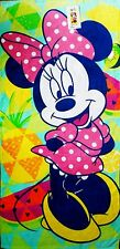 Minnie Mouse Jumping Beans Beach Towel measures 28 x 58 inches